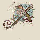 Celtic Initial X by Thoth Adan