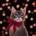 Xmas kitten by ARiAillustr