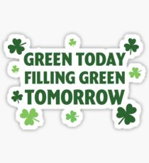 St. Patrick's Day Green Sticker