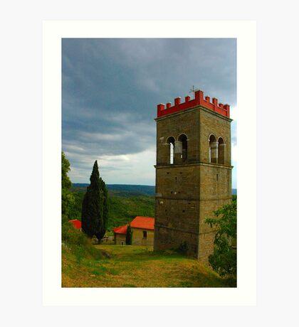 "Temples - ""Istrian campanile (HR)"" Art Print"