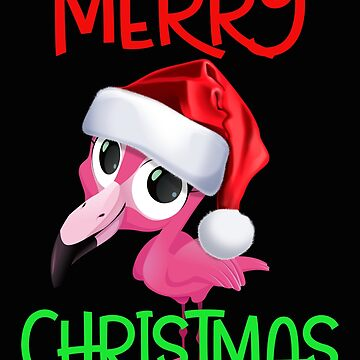 Cute Pink Flamingo Christmas by SL-Creative
