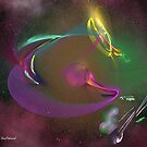 Fractals in Space 3-Planet Fractalis by Dean Warwick