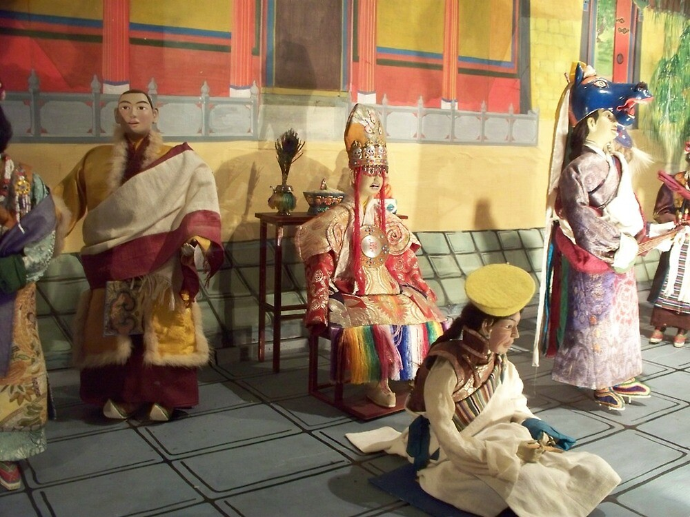 Tibetan Opera Doll Scene by Angie Spicer