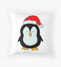 Sweet Christmas Penguin - little penguin Throw Pillow
