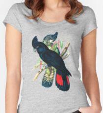Australian Banksian Black Cockatoo Women's Fitted Scoop T-Shirt