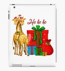 Christmas Giraffes Ho Ho Ho   iPad Case/Skin