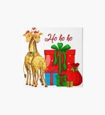 Christmas Giraffes Ho Ho Ho   Art Board