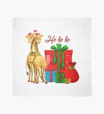 Christmas Giraffes Ho Ho Ho   Scarf