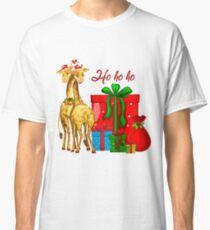 Christmas Giraffes Ho Ho Ho   Classic T-Shirt