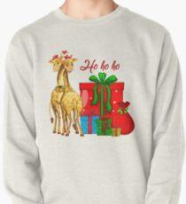 Christmas Giraffes Ho Ho Ho   Pullover