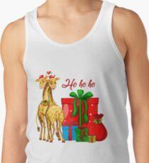 Christmas Giraffes Ho Ho Ho   Tank Top