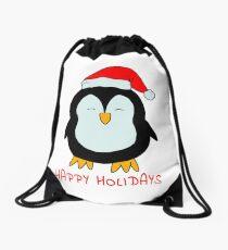 Sweet Christmas Penguin - little penguin Drawstring Bag