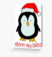 Sweet Christmas Penguin - little penguin Greeting Card
