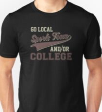 Vintage Go Local Sports Team And/Or College Funny Unisex T-Shirt