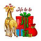 Christmas Giraffes Ho Ho Ho   by IconicTee