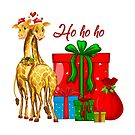 Christmas Giraffes Ho Ho Ho   by IconicTee