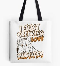Wolf admirer animal love gift Tote Bag