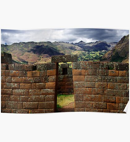 Inca Architecture Of The Sacred Valley - Peru Poster