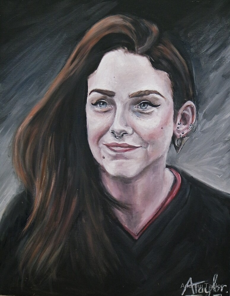 Oil portrait by Andrew Taylor