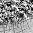 Metallic Space Age City Fractal Abstract by Shelli Fitzpatrick