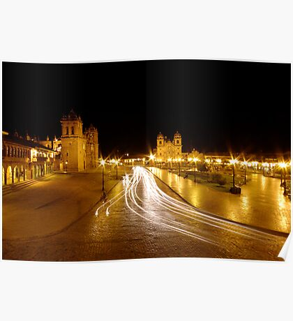 Night Lights - Cusco - Peru Poster