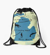Michigan National Parks Infographic Map  Drawstring Bag