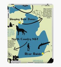 Michigan National Parks Infographic Map  iPad Case/Skin