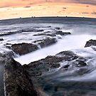 Coastal Curves - Newcastle Beach - Australia by Matt  Streatfeild