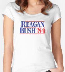 Reagan Bush 84 Women's Fitted Scoop T-Shirt
