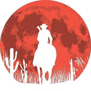 RED DEAL REDEMPTION 2 -RED MOON COWBOY T-SHIRT by rosadinardo4