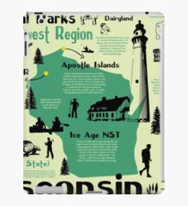 Wisconsin National Parks Infographic Map iPad Case/Skin