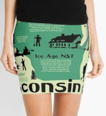 Wisconsin National Parks Infographic Map Mini Skirt