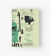 Wisconsin National Parks Infographic Map Hardcover Journal