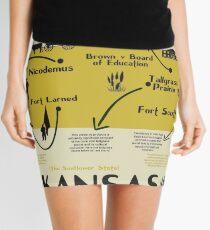 Kansas National Parks Infographic Map Mini Skirt