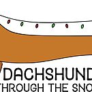 Dachshund Through the Snow by Nataliatcha