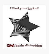 Vader Brain Photographic Print