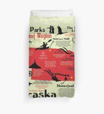 Nebraska National Parks Infographic Map Duvet Cover