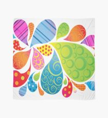 Brightly Patterned Water Splashes  Scarf
