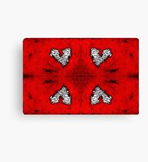 4 red hearts tho... Canvas Print