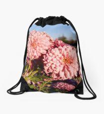 Chrysanthemum flower Drawstring Bag