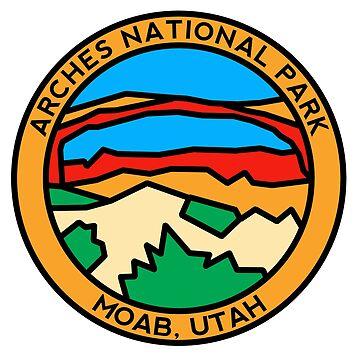 Landscape Arch Design - Arches National Park by strayfoto