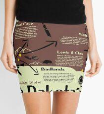 South Dakota National Parks Infographic Map Mini Skirt