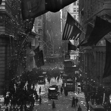 Germany Surrenders Parade - Wall Street - WW1 - 1918 by warishellstore