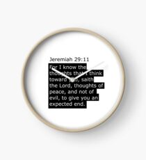 Jeremiah 29:11 Scripture range Clock