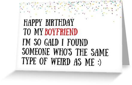 Boyfriend Birthday Card Meme Greeting Cards