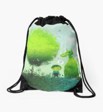 An Elf's Best Friend Drawstring Bag