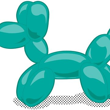 My Spirit Balloon Animal - Turquoise  by goodedesign