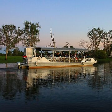 Billabong boat reflections, Australia by FranWest