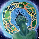 Imagine - acrylic painting on canvas by Donata Zawadzka