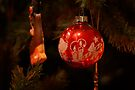 Red Antique Ornament by Colleen Drew